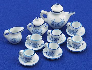 Tea Set (blue pattern)