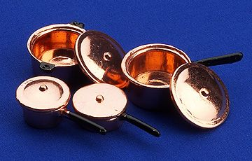 Saucepans Set (copper)