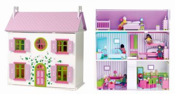 Dolls houses houses lilac cottage fully decorated for Fully decorated homes