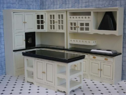 Kitchen dressers kitchen set cream black dolls for House kitchen set