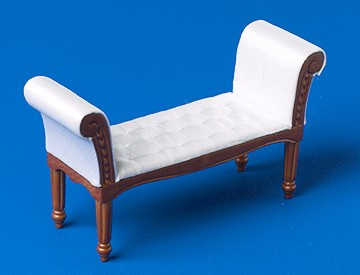 Bedroom Chairs Backless Sofa Walnut Dolls House Parade For Dolls Houses Miniatures