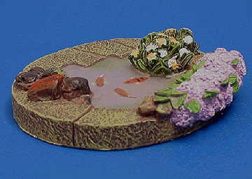 Garden water features pond shallow dolls house for Shallow garden pond