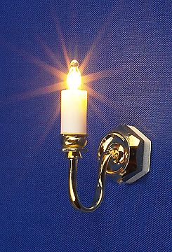 Lighting - Wall Lights - Dolls House Light - Single Wall Candle - Dolls House Parade for Dolls ...